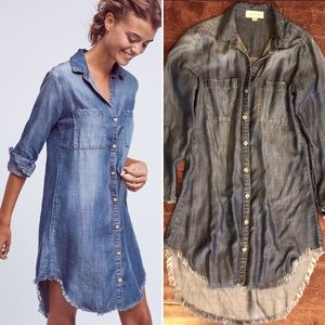 Anthropologie Chambray Jean Dress